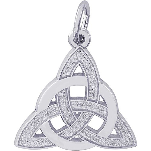 Rembrandt Charms Celtic Circle Charm, 14K White Gold