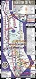 Streetwise Manhattan Bus Subway Map - Laminated Subway & Bus Map of Manhattan, New York (Michelin Streetwise Maps)
