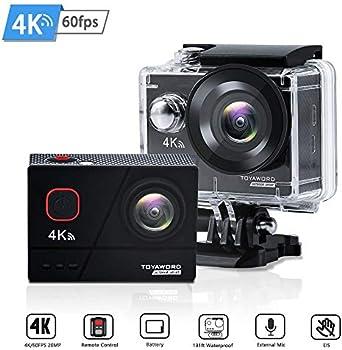 Toyaword 4K 60fps 20MP WiFi Ultra HD Waterproof Action Camera