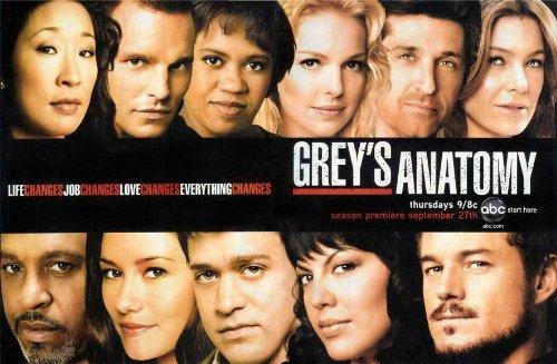 Grey's Anatomy Poster Movie Ellen Pompeo Sandra Oh Katherine Heigl Justin Chambers