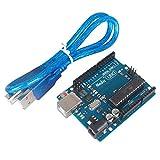 Solu UNO R3 Atmega328p Development Board + USB Cable Compatible with Arduino UNO R3 Mega 2560 Nano Robot / New UNO R3 Rev3 Development Board Atmega328p Atmega16u2 AVR USB for Arduino