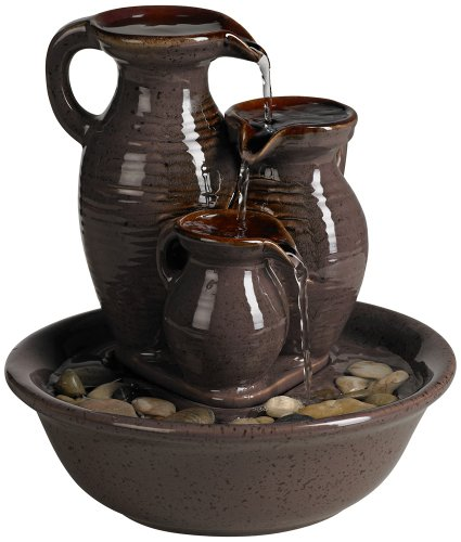 Triple Jug Indoor-Outdoor Tabletop Fountain