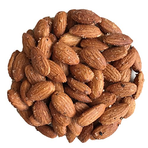 Smokehouse Almonds - Smoked with Real Wood - Classic Sea Salt and Pepper - 9 oz Jar by AgStandard - No chemical flavors - Non GMO - Vegan - Gluten-free - Superior to Blue Diamond - Made without Oil (Diamond Vegan)