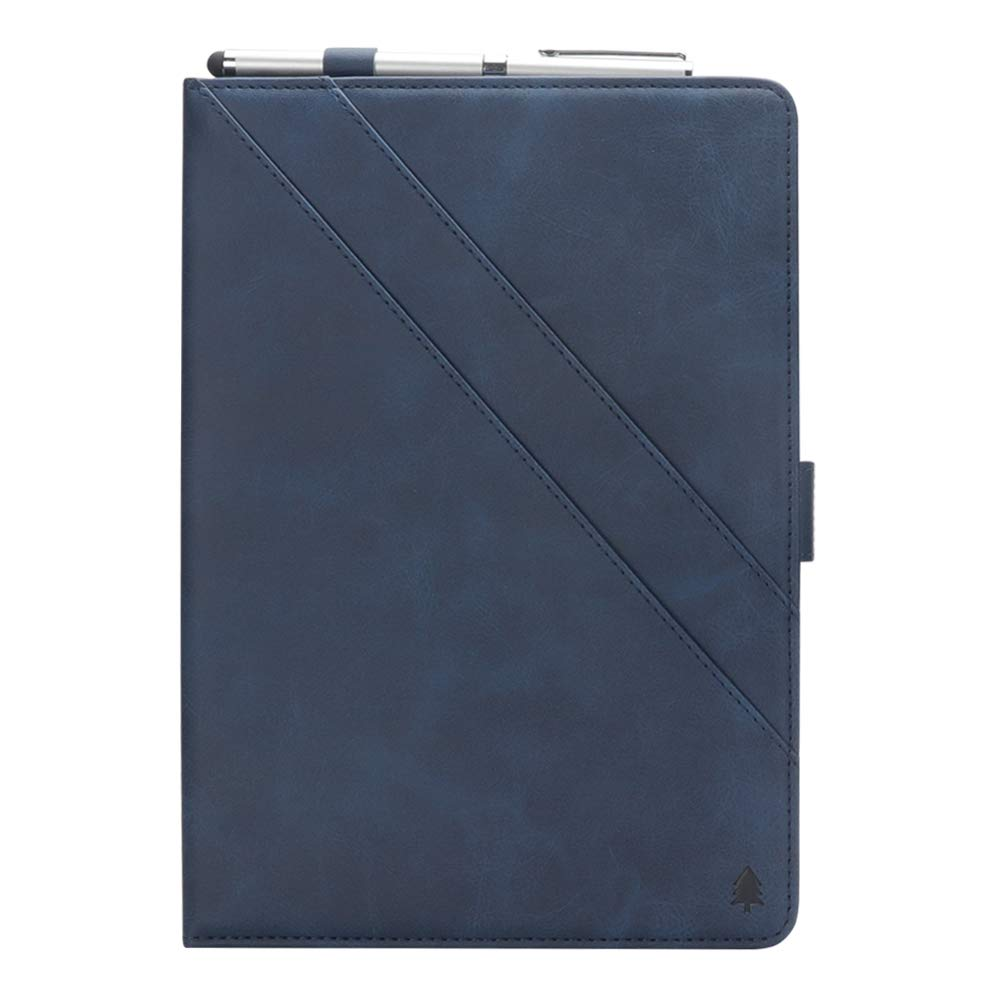 12.9 inch iPad Pro Cover,taStone Premium PU Leather Folio Business Case Multi-Angle Viewing Stand Cover Skin Card Slot Pouch with Pencil Sleeve Protector for 2018 Release iPad Pro 12.9,Blue