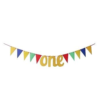FENICAL Baby 1st Birthday Banner Una Guirnalda de cumpleaños ...