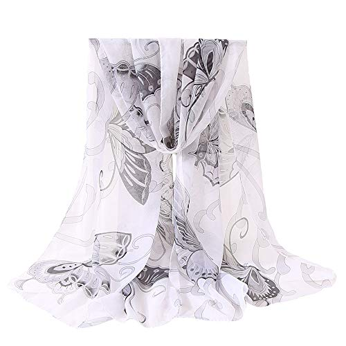 in Sciarpa Stampata Slim White Vogue lana Summer Donna Chales Sciarpa Sciarpe Angelof invernale seta Lunghe twC5qS