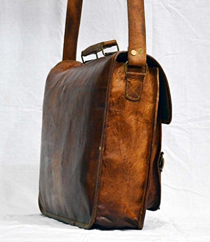 Messenger of Leather Vintage Leather Laptop Bag, Messenger Bag. 11'' x 15'' x 3.5'' by Messenger of Leather (Image #3)