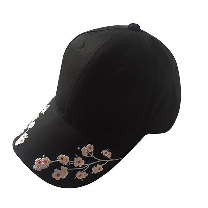 Unisex Gorras de Béisbol de Visera Adjustable Bordado Floral Algodón - Flypv 2017 Nuevo Diseño -