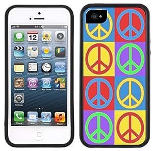 Peace Signs Symbols Handmade iPhone 5 5S Black Case