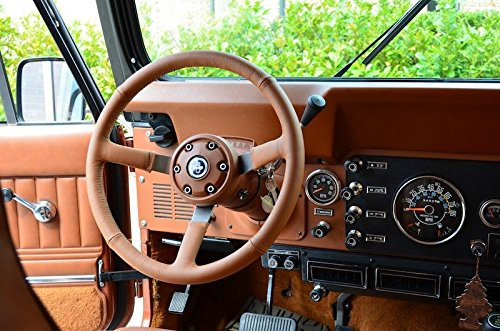 Amazon.com: RedlineGoods steering wheel cover compatible with Jeep Wrangler YJ 1987-95. Black perforated leather-Black thread: Automotive
