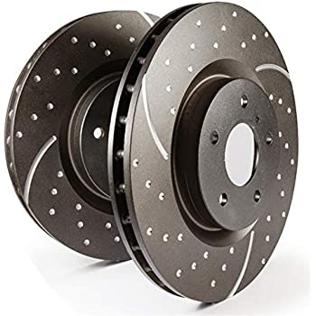 EBC USR7105 ULTIMAX USR SLOTTED SPORT BRAKE ROTORS FRONT