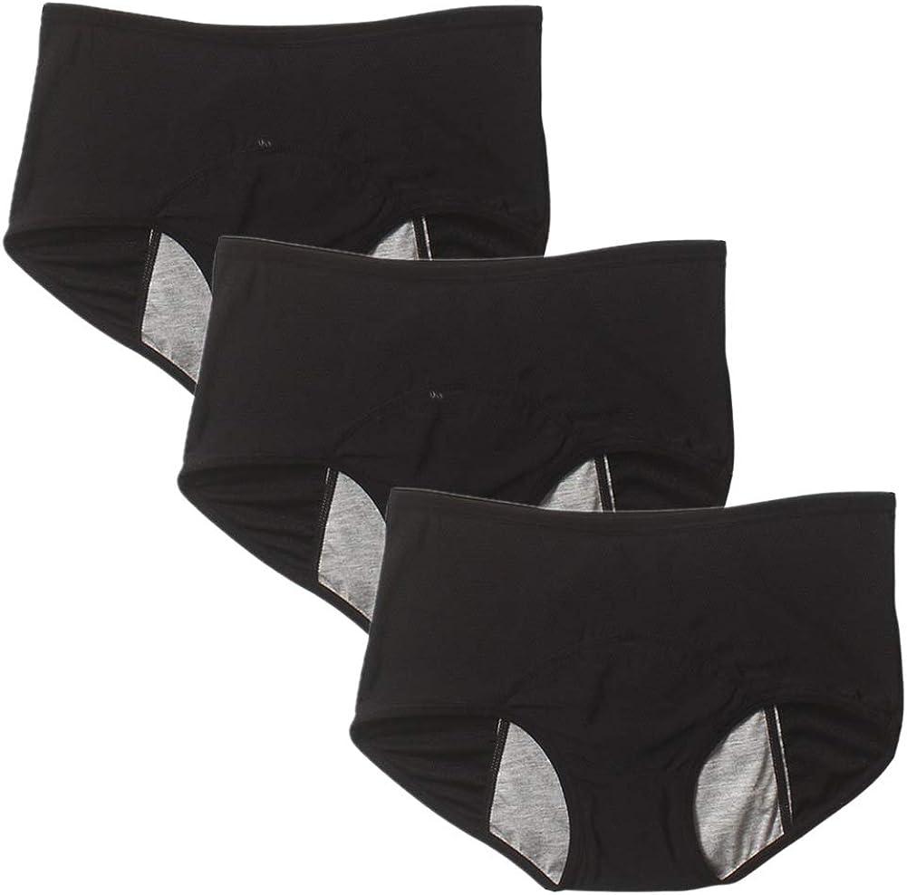 Goyajun Culottes /Étanche pour Femmes de Grande Taille sous-v/êtements Hygi/éniques Slips de Protection Menstruelles Respirante