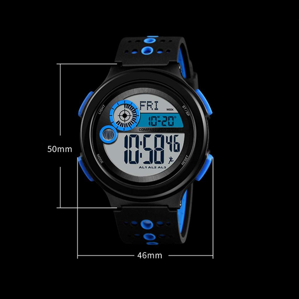 Wyx sportklocka, digital utomhuslöpning för män vattentät enkel klocka WTR a