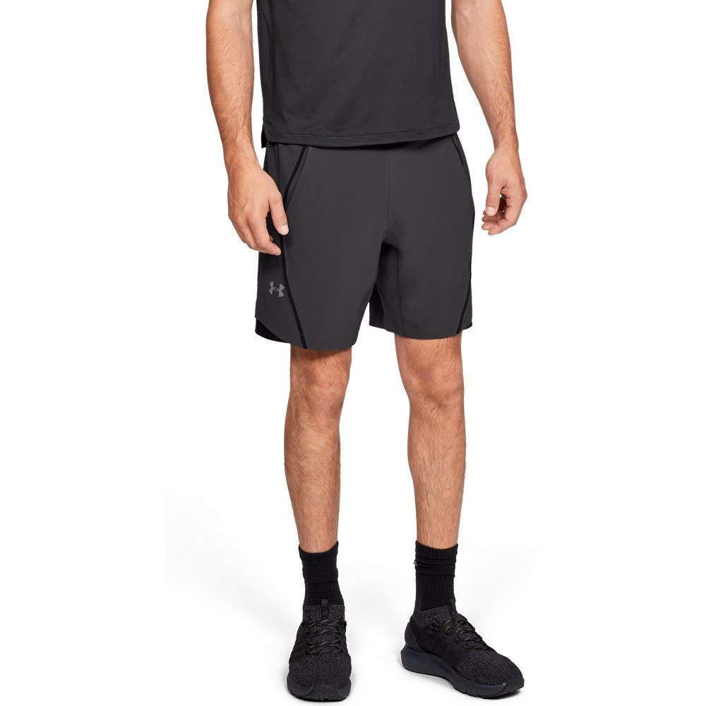 Under Armour Men's Speedpocket 8'' Linerless Shorts, Charcoal (019)/Reflective, Small