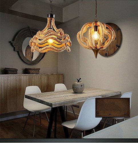 sune wavy hemp rope pendant lights retro hemp rope pendant lamps nautical rope chandeliers industrial lighting - Nautical Chandelier