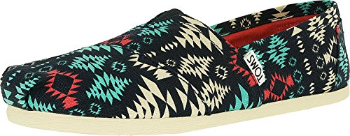Toms Womens Aztec Low Top Casual Shoes Blue 6.5 Medium (b, M)