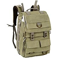 Camera/Laptop Backpack Bag Multi-function Waterproof Travel Backpack for Sony Canon Nikon Olympus SLR/DSLR Cameras,Lens and Accessories(Khaki Green)