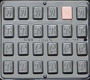 "Alfabeto A B C D 11/4""chocolate candy mold 7005"