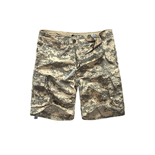 Backbone Mens Army Tactical Military Cargo Shorts Work Fishing Camping Camo Shorts (ACU Digital Camo, 36)