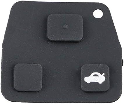 Mini Caja de Llave remota para Toyota Almohadilla de Goma para Caja de Llavero de 2 o 3 Botones Reparación de Yaris Corolla Avensis: Amazon.es: Electrónica