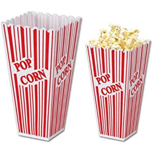 Beistle 57473 Plastic Popcorn Boxes, 2-Inch by 3-3/4-Inch by 7-3/4-Inch