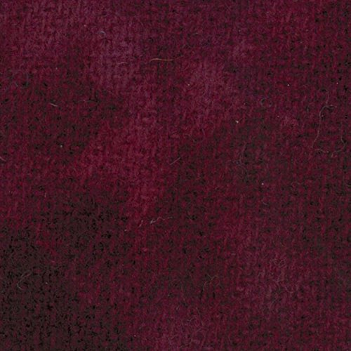 Primitive Gatherings Hand Dyed Wool Red Grape Solid 15 inch x 25 inch Cut Piece Moda PRI (Hand Dyed Quilt Fabric)