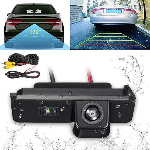 - Car Reverse Rear View Backup Camera with Night Vision Function 170° Viewing Angle, Video & Power Line, Parking Vehicle Assist for Passat, Golf, Bora MK4 MK5 MK6(Black)