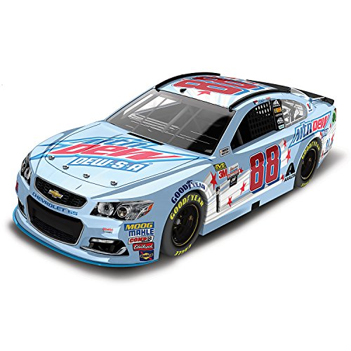 Nascar Collection (Dale Earnhardt Jr 1:24 Scale 2017 No 88 Mountain Dew DEW-S-A Diecast Car by The Hamilton Collection)
