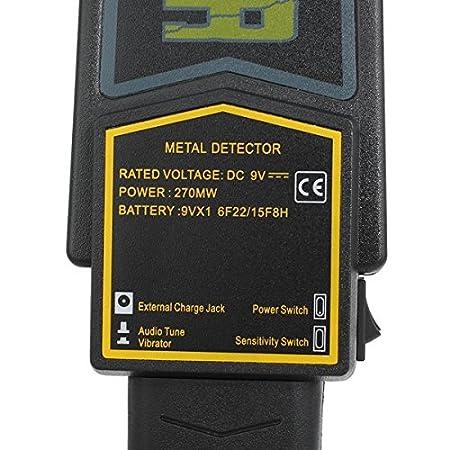Alarma de seguridad Detector de metales de mano y vibraciones MD3003B1: Amazon.es: Electrónica