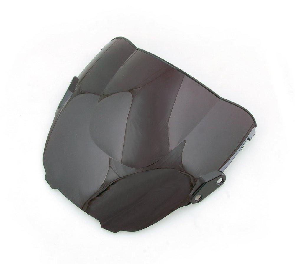 Areyourshop Windshield WindScreen Double Bubble Fit for Honda CBR600 CBR 600 F3 1995-1998 Black