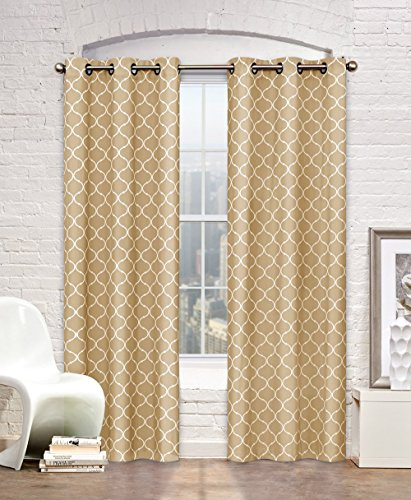 """UPC 678298219079, Regal Home Collections Maison Grommet Panel Pair (Set of 2), 76"""" by 84"""", Linen"""