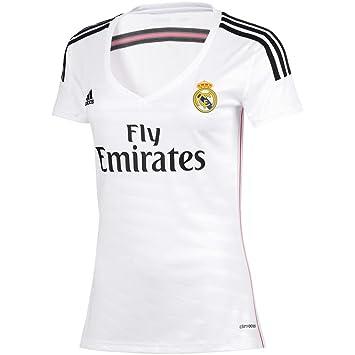 Camiseta Real Madrid 1ª -Mujer- 2014-15  Amazon.es  Deportes y aire ... fb0580727326d