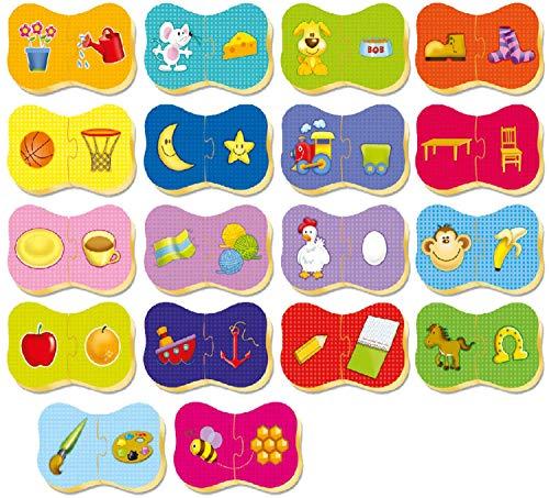 Brinquedo Pedagógico Madeira Cade Meu Par Brincadeira de Criança