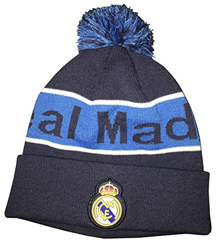 Real Madrid FC Team Beanie (Night Indigo/Blue Striped) style C by Icon Sports Group