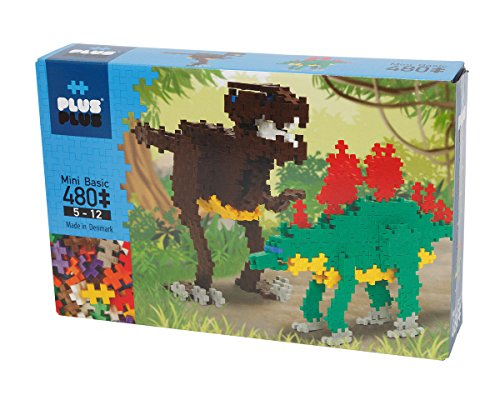 PLUS PLUS - Construction Building Toy, Instructed Play Set - 480 Piece Dinosaurs