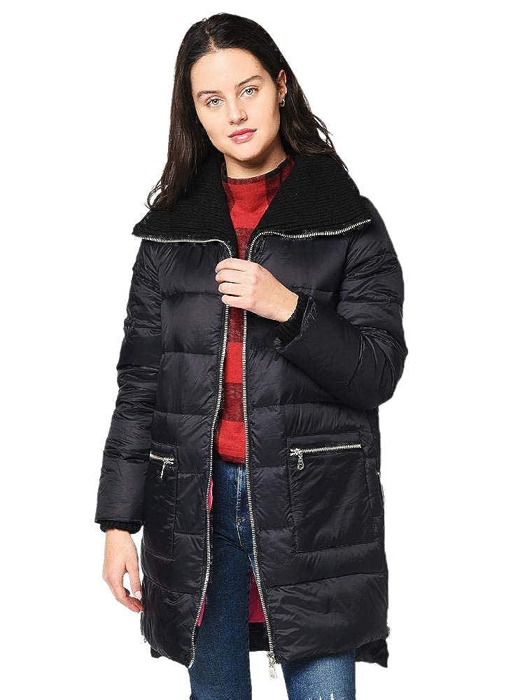 Image of BB Dakota Women's Cold Snap Down Filled Knit Collar Puffer Coat