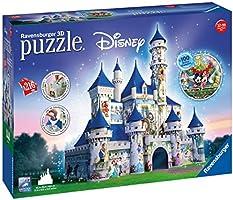 Ravensburger Italy 12587 - Castello Disney Puzzle 3D Building Maxi