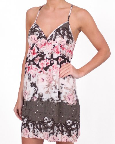 Touché, 100% Viscose Petal Strappy Kleid Schlafanzug Set, Beach & Loungewear Für Damen.