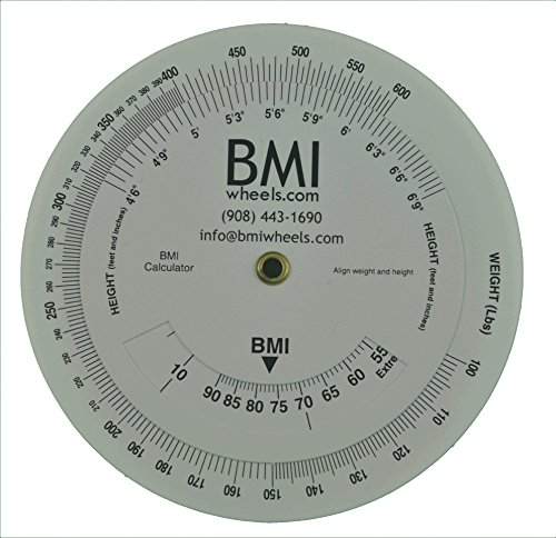 BMI Wheel Calculator 4.25 inch, Single sided, adult,1 Pack