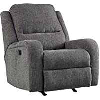 Ashley Krismen Collection 7810213 36 Power Rocker Recliner with Adjustable Headrest Chenille Upholstery Track Arms and USB Charging Port in