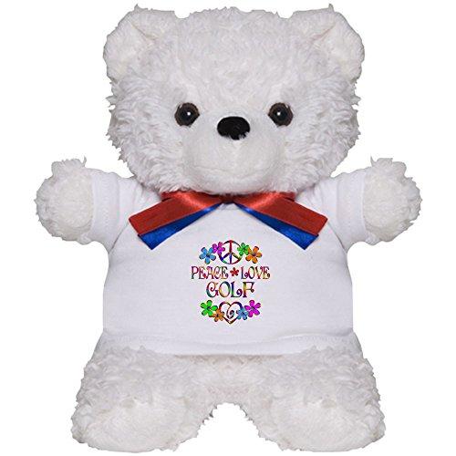 CafePress - Peace Love Golf - Teddy Bear, Plush Stuffed Animal (Golfing Teddy Bear)