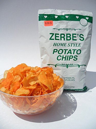 Zerbe's BBQ Home Style Potato Chips (Pack of Two - 16 Oz. Bags)