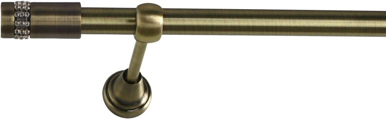 Laiton Antique AIDA 120 cm Sento 16mm Kit de Tringle /à Rideau Metal Classic