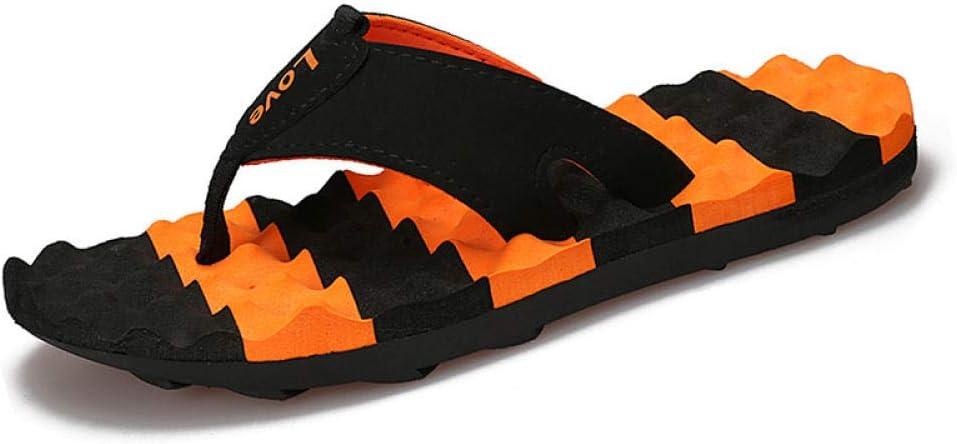Nwarmsouth Zapatillas de Masaje para pies, Zapatillas de Hombre con Fondo Blando Antideslizante, Chanclas de Playa ponibles, Negro Orange_42, Slip On Slide: Amazon.es: Deportes y aire libre