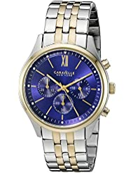 Caravelle New York Mens Quartz Stainless Steel Dress Watch (Model: 45A131)