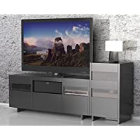 Nexera Vision 1 Tower Entertainment Center in Black