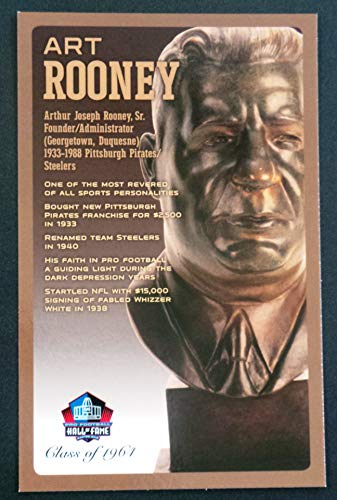 PRO FOOTBALL HALL OF FAME Art Rooney NFL Bronze Bust Set Card Postcard (Limited Edition #95 of 150) from PRO FOOTBALL HALL OF FAME
