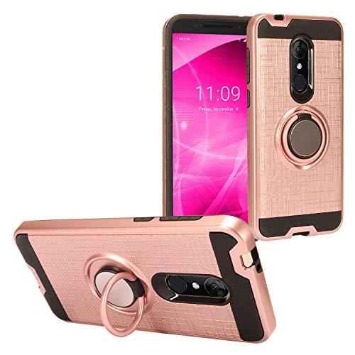 Z-GEN - T-Mobile REVVL 2 (5.5) REVVL2 5052W - Hybrid Hard Case w/Ring Stand - RS2 Rosegold
