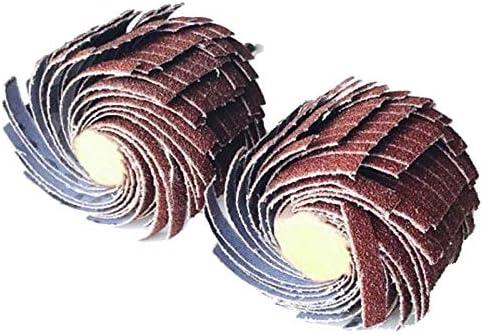 Iycorish 2ピース/セット 35×6ミリメートル 研磨サンディングワイヤーホイールマウントされた研磨サンディング布ワイヤーストライピング砥石曲面曲面木彫り研磨