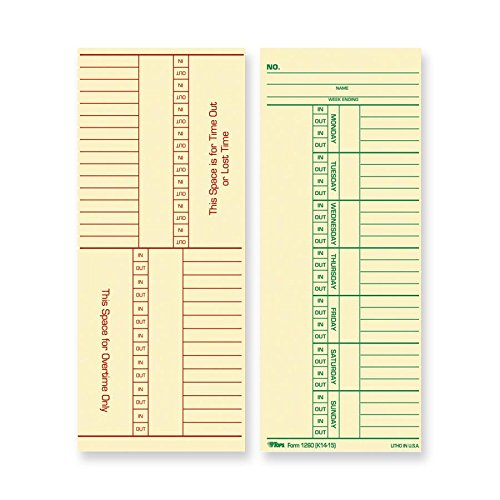 TOP12603 - TOPS Named Days/Overtime Time Card